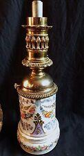 Grande Lampe à pétrole ancienne en PORCELAINE DE PARIS