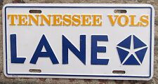 1990's LANE CHRYSLER TENNESSEE VOLS BOOSTER License Plate