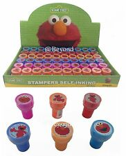 12PC SESAME STREET ELMO STAMPS STAMPERS PARTY FAVOR CANDY BAGS GIFTS