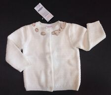 NWT Gymboree Holiday Shine 12-18 Months Gold Ribbon Trim Ivory Cardigan Sweater