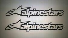 Alpinestars  stickers x2  Rally Race motocross karting 28cm wide 6cm tall black