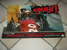 fotobusta 1967 RIDERA' ,CUORE MATTO,CORBUCCI,LITTLE TONY ,AUTO CAR RACING RACE