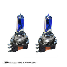 GP Thunder 8500K H15 15W/55W Dual Beam Xenon Light Bulb Pair Platinum White