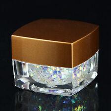 8g/box Sequin Nail Art Powder Glitters Polish For UV Gel Acrylic Tips Decoration