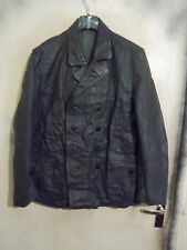 VINTAGE POST WW2 GERMAN LEATHER POLICE OFFICERS JACKET SIZE L