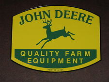 "JOHN DEERE 7"" QFE 1950's PRINTED IN USA DECAL STICKER 4 LEGGED TRACTOR GATOR"