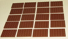 LEGO LOT OF 20 NEW 4 X 6 REDDISH BROWN PLATES PIECES