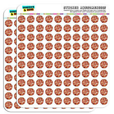 "Cheese and Pepperoni Pizza Pie 0.5"" Scrapbooking Crafting Stickers"