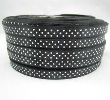 Bulk 10 Yards 3/8 9mm Polka Dot Ribbon Satin for Craft Supplies roll Black ZL1