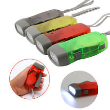 Wind Up Hand Pressing Crank Emergency Camping LED Flashlight Torch Outdoor Light