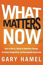 What Matters Now: How to Win in a World of Relentless Change, Ferocious Competi