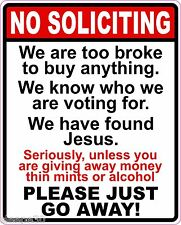 No Soliciting Go Away Vinyl Sticker Decal Sign Funny *FREE DOMESTIC SHIPPING*