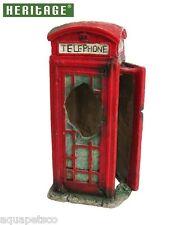 HERITAGE BM128s AQUARIUM FISH TANK PHONE BOX ORNAMENT DECORATION RED 14CM HIDE