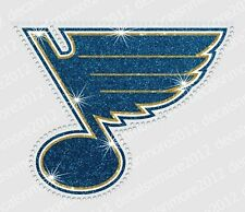 NHL - St. Louis Blues - Bling - Iron-on Glitter Vinyl/Rhinestone Decal Transfer