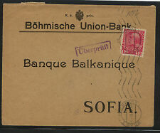 Ausria  Union bank cover to  Bulgaria          AT0503