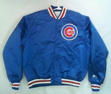 WoW VINTAGE MADE IN USA 80's STARTER CHICAGO CUBS SATIN JACKET IN SIZE XL