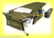 EARTH Ultimate Extra-Strong Military Camping Cot w/Free Side Storage Bag System