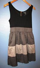 Girls Sz L 14 Contempo Dress Black and 3 Shades of Gray 100 % cotton Juniors