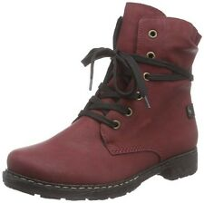 Rieker Women's Warm Lined Classic Boots Half Length, Red Wine 4 UK 37 EU
