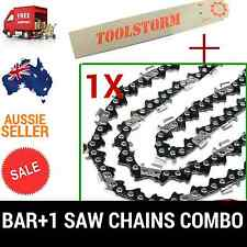 """12"""" BAR & 1 CHAINS COMBO 3/8""""LP 050 45DL FOR OZITO CHAINSAW OZPCS305A 25.4CC"""