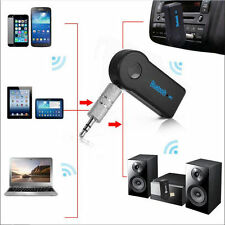 Wireless 3.0 Bluetooth Audio Receiver Stereo Music Car Adapter & Mic 3.5mm AUX