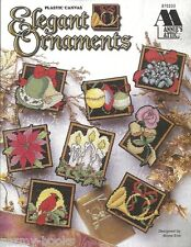 Elegant Ornaments Christmas Plastic Canvas Patterns Mona Eno Annie's Attic NEW