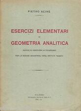 SICILIA_PALERMO_SCIRE'_MATEMATICA_GEOMETRIA ANALITICA_ESERCIZI_EDIZIONE D'EPOCA