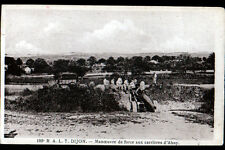 CARRIERES d'AHUY (21) 186° R.A.L.T. DIJON / MILITAIRE avec CAMION & CANON