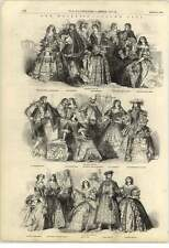 1851 Queens Costume Ball Various Dignitaries Attire