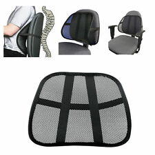 New Cool Vent Cushion Mesh Back Lumbar Support Car Office Chair Truck Seat Black