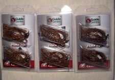 3 PACKS Jewel Guide Series J-Lock 3/8 oz Multi BASS JIGS Gamakatsu Hooks PB&J