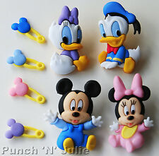 DISNEY BABIES - Mickey Minnie Mouse Donald Daisy Duck Baby Disney Craft Buttons