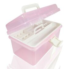 Storage Nail Art Painting Big Beads Pink Tools Empty Medicine Case Plastic