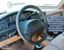 1993 Ford F150 F250 F350 XLT Custom XL -Leather Steering Wheel Cover Black