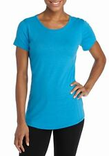 Columbia - S - NWT - Blue Omni-Wick Short Sleeve Slub Knit Crew Tee - Knit Top