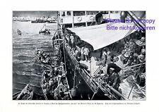 Flucht der italienischen Kolonie in Tripolis XL Kunstdruck 1911 Italien Lybien