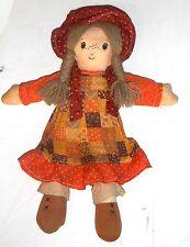 Vintage années 1970 / 80's CUDDLE WIT Jouets-Holly Hobbie - 13 pouces Ragdoll (GT41)