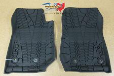 2014-2016 Jeep Wrangler Rubber Slush All Weather Floor Mats Mopar OEM