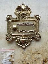 Geschenknet Antik Messing Klingel 1 Klingelschild Klingelplatte  K41P