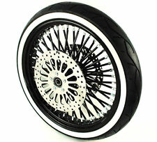 Black 21 3.5 52 Fat Spoke Mammoth Front Wheel Tire Package ABS Harley Touring 17