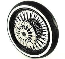 Black 21 3.5 52 Fat Spoke Mammoth Front Wheel Tire Package 08-15 Harley Touring
