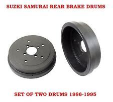 Suzuki Samurai Rear Brake Drums 1986-1995  SET OF TWO