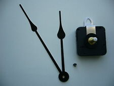 HIGH TORQUE CLOCK MOVEMENT EXTRA LONG SPINDLE 175MM BLACK  FRENCH SPADE