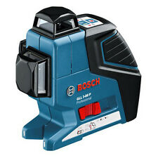 New BOSCH GLL3-80P 360 Degree 3-Plane Leveling Alignment Multi Line Laser Level