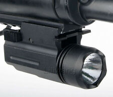 Tactical 300Lm Cree Flashlight/light For Pistol/Glock Weaver/Picatinny Rail #15