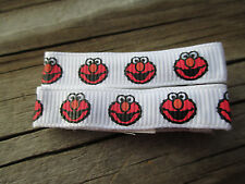 """Hair Clips a pair of Red and White Elmo Faces on 1 1/2"""" Alligator clips USA"""