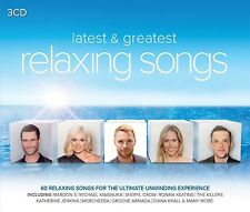 RELAXING SONGS-LATEST & GREATEST (MAROON 5, THE KILLERS, DELILAH, ...) 3 CD NEU