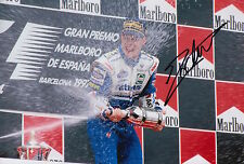 Jacques Villeneuve Hand Signed F1 12x8 Photo Rothmans Williams Renault.