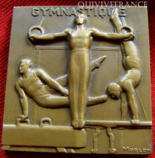 MED2786 - MEDAILLE ART DECO GYMNASTIQUE par MORLON - FRENCH MEDAL