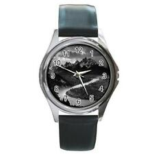 The Grand Tetons National Park Ansel Adams Round Metal Watch